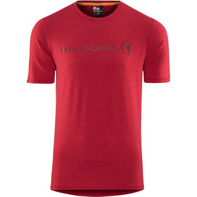 Endura SingleTrack Merino T-Shirt Heren, rustred